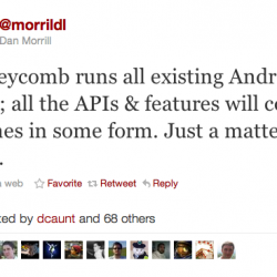 Android 2.x to incorporate all the features from Honeycomb
