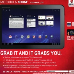 Motorola XOOM to launch without Flash support; update coming up this spring