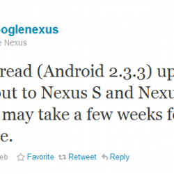 Google to roll out latest Gingerbread update for Nexus One and Nexus S