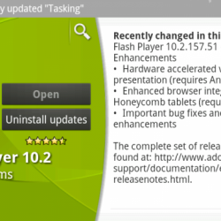 "Adobe Flash Player 10.2 to Support ""Hardware Accelerated Video"" for Android 3.1 Tablets"