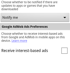 Android Users Can Now Opt Out of Ad Targeting via Market