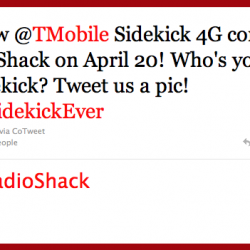 Sidekick 4G to be available on RadioShack on April 20th