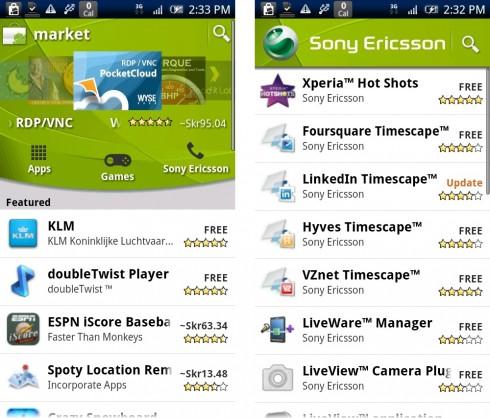 Sony Ericsson Android Market