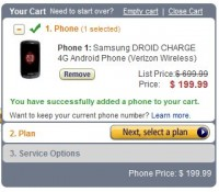 Amazon Now Offering the Samsung Droid Charge For $199.99 On Contract