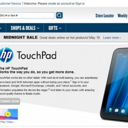 "Best Buy Lists the HP TouchPad As ""Coming Soon"""