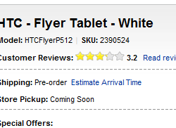HTC Flyer Available From Today On Best Buy