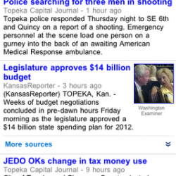 "Google Launches ""News Near You"" on Google News for Cellphones"