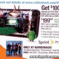 Radioshack To Sell the HTC EVO 3D At $199.99 On Contract or $99.99 For a Trade In