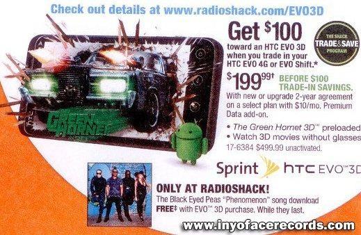 Radioshack HTC EVO 3D