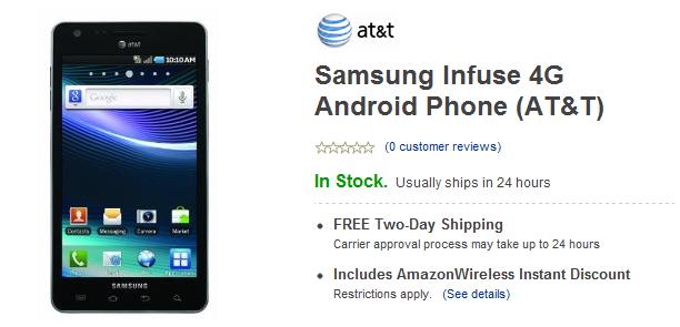 Samsung Infuse 4G Amazon