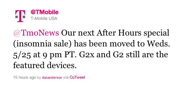T-Mobile Tweet