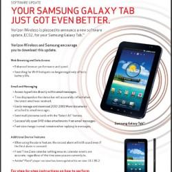 Galaxy Tab Update